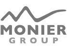 Monier logo zwart wit