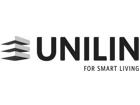 Unilin logo zwart wit